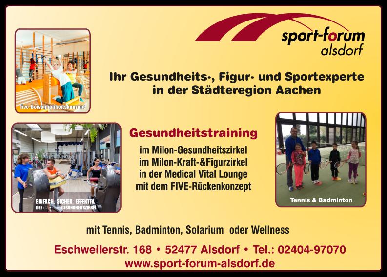 TV-Blau-Weiss-Hoengen-Sponsor-Sportforum-Alsdorf